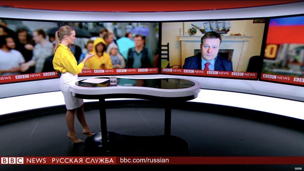 Адвокат Жаров в прямом эфире BBC News - Русская Служба