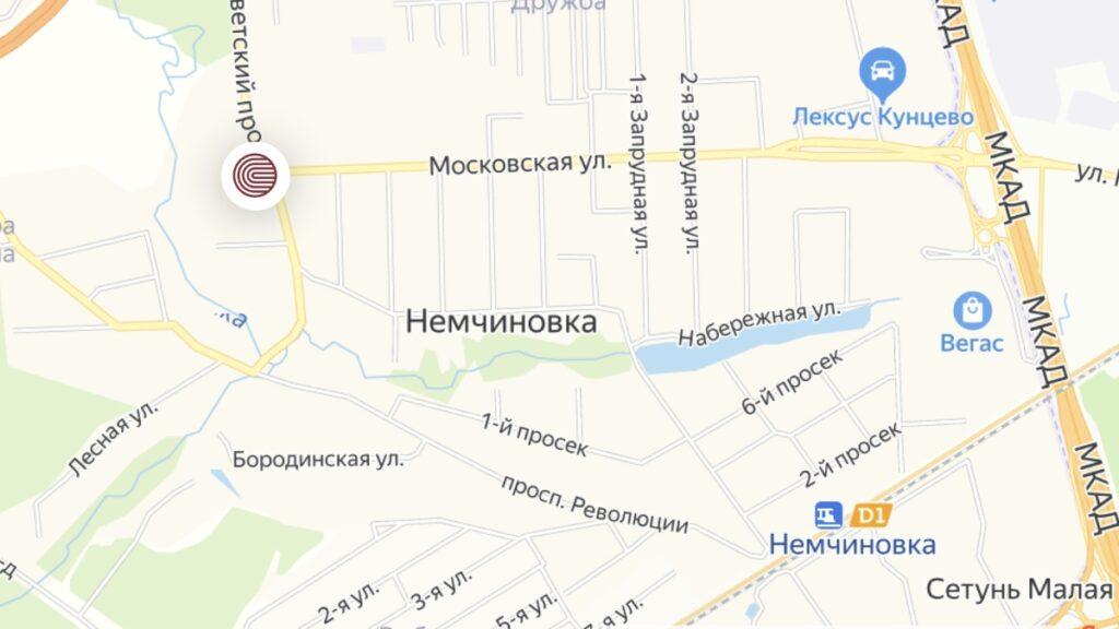 Команда адвоката Жарова - схема проезда