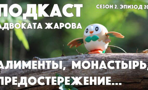 Подкаст адвоката Жарова №20